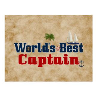 Carte Postale Le meilleur capitaine des mondes