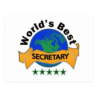 Carte Postale Le meilleur secrétaire du monde