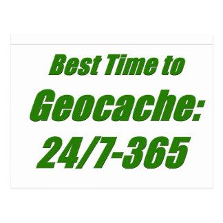 Carte Postale Le meilleur temps à Geocache