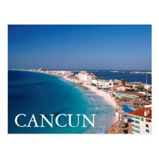 Carte Postale Le Mexique, Cancun, vue aérienne des hôtels
