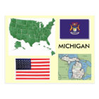 Carte Postale Le Michigan, Etats-Unis
