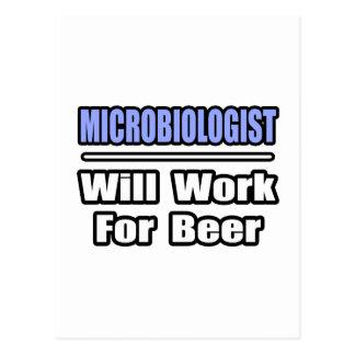 Carte Postale Le microbiologiste… travaillera pour la bière