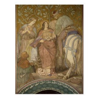 Carte Postale Le miracle de rose, c.1855