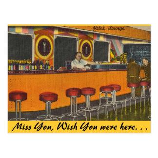 Carte Postale Le Mississippi, salon de cocktail de Peter