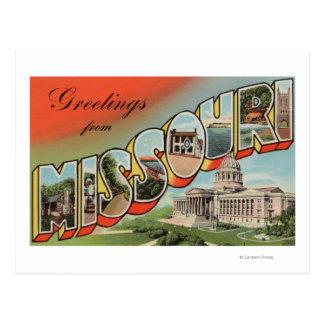 Carte Postale Le Missouri (bâtiment capital) - grande lettre