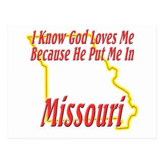 Carte Postale Le Missouri - Dieu m'aime