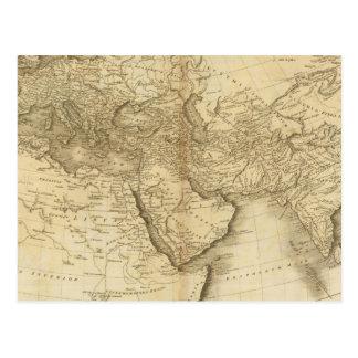 Carte Postale Le monde comme connu des ancients