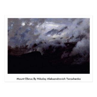 Carte Postale Le mont Elbrouz par Nikolay Aleksandrovich