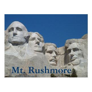 Carte Postale Le mont Rushmore