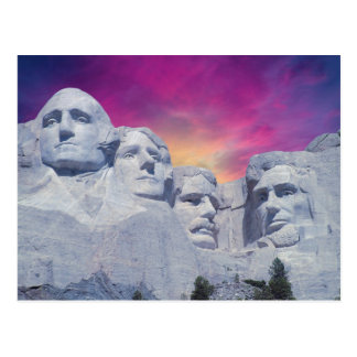 Carte Postale Le mont Rushmore, présidents du Dakota du Sud,