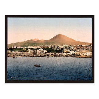 Carte Postale Le mont Vésuve, avec Torre de Creco, Naples,