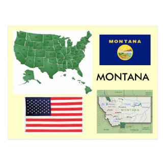 Carte Postale Le Montana, Etats-Unis