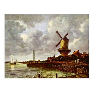 Carte Postale Le moulin à vent chez Wijk Bij Duurstede [1]. Par