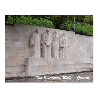 Carte Postale Le mur de réformateurs - Genève