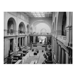 Carte Postale Le musée égyptien (intérieur) circa 1934