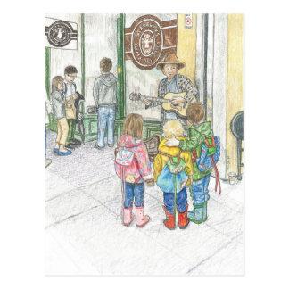 Carte Postale Le musicien au marché de Pike