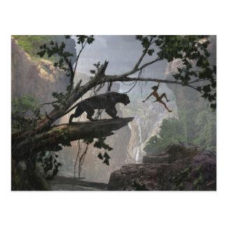 Carte Postale Le mystère du livre   de jungle de la jungle