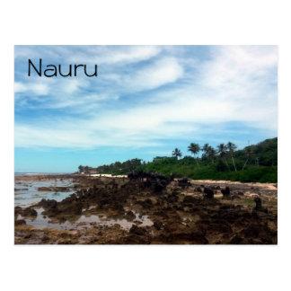 Carte Postale le Nauru côtier