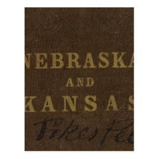 Carte Postale Le Nébraska et le Kansas
