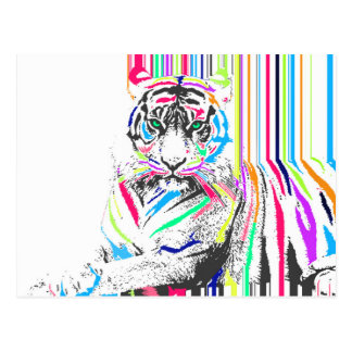 Carte Postale le néon vibrant coloré à la mode barre la peinture