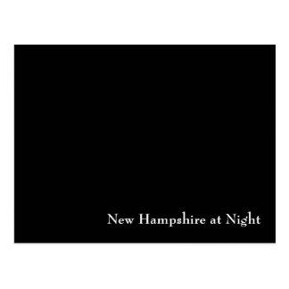 Carte Postale Le New Hampshire la nuit