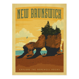 Carte Postale Le Nouveau Brunswick, Canada