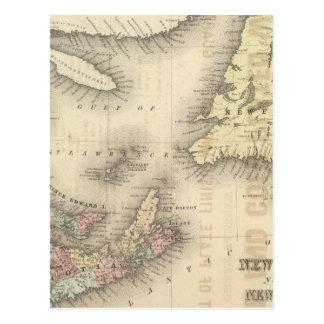 Carte Postale Le Nouveau Brunswick, la Nouvelle-Écosse,