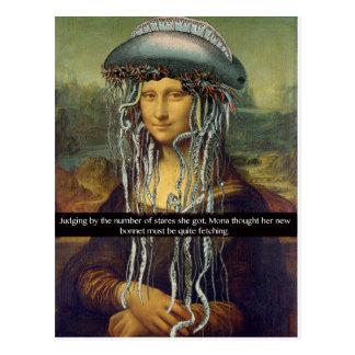 """Carte Postale """"Le nouveau capot de Mona """""""