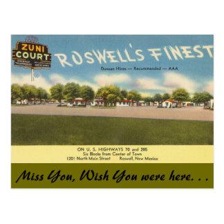 Carte Postale Le Nouveau Mexique, cour de Zuni, Roswell