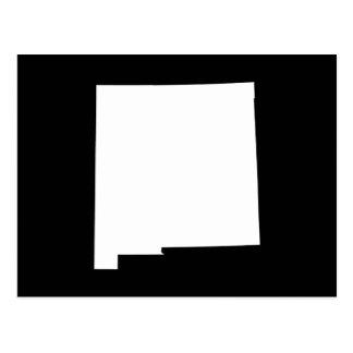 Carte Postale Le Nouveau Mexique dans le blanc et le noir