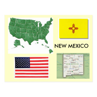 Carte Postale Le Nouveau Mexique, Etats-Unis