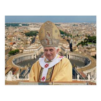 Carte Postale Le pape Benoît XVI avec Ville du Vatican