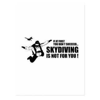 Carte Postale Le parachutisme n'est pas pour vous