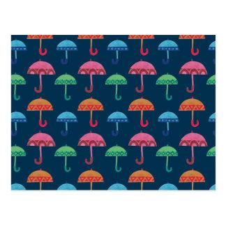 Carte Postale Le parapluie de fantaisie