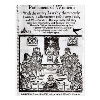 Carte Postale Le Parlement des femmes, 1656