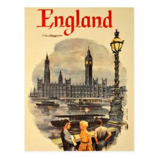 Carte Postale Le Parlement vintage de Big Ben de transports
