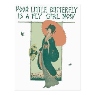Carte Postale Le pauvre petit papillon est une fille de mouche