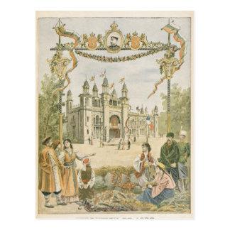 Carte Postale Le pavillon bulgare à l'universel