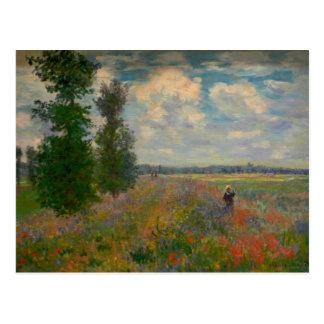 Carte Postale Le pavot met en place des beaux-arts de Claude