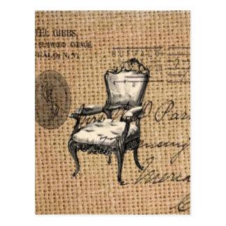 Carte Postale le pays français scripts la chaise de rococos de