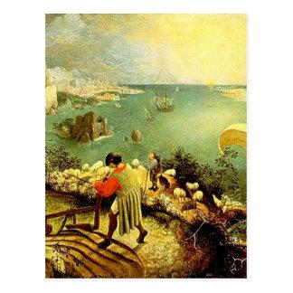 Carte Postale Le paysage de Bruegel avec l'automne d'Icare -