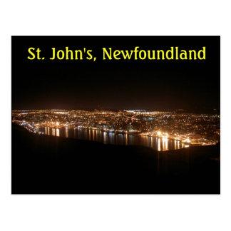 Carte Postale Le paysage urbain de St John la nuit