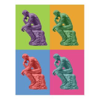 Carte Postale Le penseur de Rodin - art de bruit