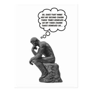 Carte Postale Le penseur de Rodin - cousins