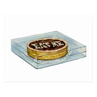 Carte Postale Le petit gâteau a indiqué Eat moi, ainsi Alice a