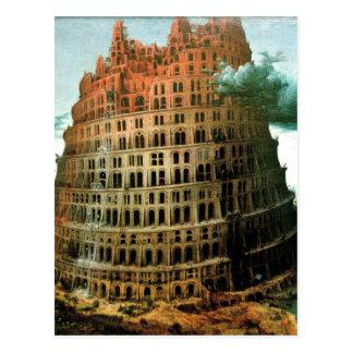 """Carte Postale Le """"peu"""" de Pieter Bruegel tour de Babel"""