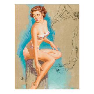 Carte Postale Le Pin de plongeur vers le haut de l'art
