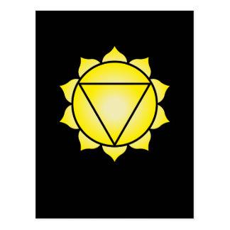 Carte Postale Le plexus solaire Chakra