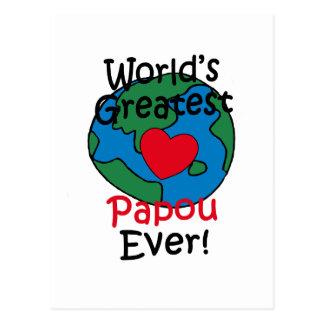 Carte Postale Le plus grand coeur de Papou du monde