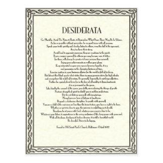 Carte Postale Le poème de desiderata par Ehrmann maximum